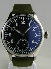 Montre FLIEGER BLUE Swiss Superluminova LUME type Unitas 6498 pilot watch B-uhr