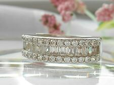 QVC-Epiphany Diamonique Baguette Band Ring Size 6