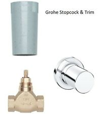 """Grohe Concealed Stop Valve 1/2"""" 29811 & Grohtherm 3000 Cosmopolitan Trim 19470"""