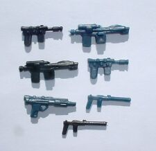 CUST.7 Weapons LOT Han,Luke,Stormtrooper,Leia,Bespin,Hoth,IG88 Vintage Star War