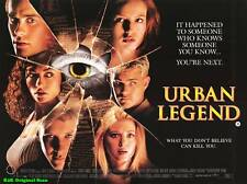 "MOVIE POSTER~Urban Legend 1998 30x40"" British Quad Tara Reid Jared Leto Orig~NOS"
