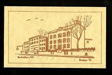 New Jersey NJ postcard Street View, Burlington Vintage Jennings, Franklin