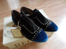 Replay women's shoes, brown with blue velvet studded slip on size 4 brand new