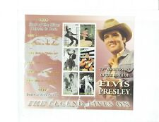 ELVIS PRESLEY 70TH ANNIVERSARY BIRTH THE LEGEND LIVES ON GRENADA $1.50 6 STAMPS