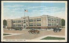 POSTCARD VINCENNES IN/INDIANA NEW HIGH SCHOOL VIEW 1910's
