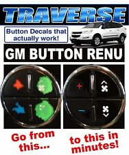 2007-2013 CHEVROLET TRAVERSE AC BUTTON DECALS GM CLIMATE CONTROL REPAIR SET