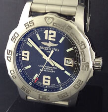 Breitling Colt 44 Mens Quartz Chronometer Watch A74387 500 Meter WR HUGE HEAVY