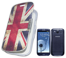 FLIP COVER COMPATIBLE X SAMSUNG i9300 GALAXY S3 SIII CAMOUFLAGE MILITAIRE BLANC