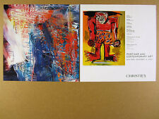 2007 Jean-Michel Basquiat sugar ray robinson painting Christie's print Ad