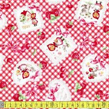 Lecien Fabric Little Red Riding Hood Gingham Red Metre PER METRE 0