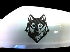 Wolf Werewolf Car Stickers Wing Mirror Styling Decals (Set of 2), Black Carbon
