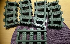 Lego city train track 16 curved 4 straight new for set 7939 60052 60051 etc....