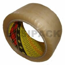 """144 rolls (4 Boxes) x 3M 'CLEAR' Scotch packing 371 parcel 2"""" tape 48mm x 66M"""