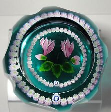Rare Whitefriar's Caithness Cyclamen Paperweight Ltd Ed. Margot Thomson Boxed