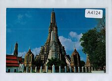 A4124cgt Thailand Great Pagoda Wat Arun Temple of Dawn Bangkok postcard
