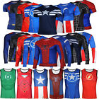 Marvel Mens Compression DC Comics Superhero Cycling Sportswear T-Shirt Top Shirt