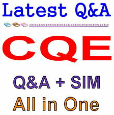 ASQ Certified Quality Engineer CQE Exam Q&A PDF+SIM