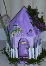 FAIRY HOUSE LAVENDER WOOD FLOWER FAIRY HOUSE OOAK HAND MADE HAND CRAFTED