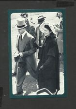 Nostalgia Postcard  Aly Khan and Rita Hayworth at the Derby 1949