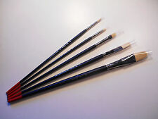Artist Set of 5 New Creative Mark Pro Stroke Powercryl Ultimate Acrylic Brushes
