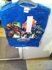 New Boys Skylanders Tshirt Tops With Long Sleeves Size 8 Ans Blue