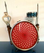 RARE Vintage Antique blue oyster pearl COCKTAIL BAR SET drums 1960s Krupa bonham
