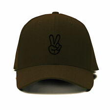 Hand Peace Sign Embroidery Embroidered Adjustable Hat Baseball Cap