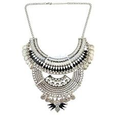 Fashion Pendant Chain Tribal Jewelry Choker Chunky Statement Bib Necklace