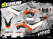 SCRUB KTM graphics decals kit EXC 125 250 300 450 530 2008-2011 '08-'11