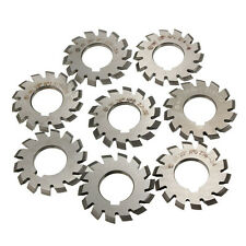 8pcs Diameter 22mm M1 PA20° 20degree  #1-8 Involute Gear Cutters Set HSS