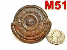 Antique Furniture Drawer Pull depression era art deco waterfall shabby rust *M51