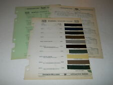 1939 PONTIAC PAINT CHIP CHART COLORS SHERWIN WILLIAMS PLUS MORE