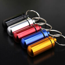 Small Waterproof Pill Tablet Medicine Storage Box Bottle Case Container Keychain