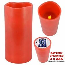 Smoke Free Flameless Coloured Scented Safe LED Candle Long Life Battery Operated