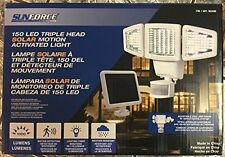 SunForce 150 LED Triple-Head Solar Motion Activated Security Light 1000 Lumens