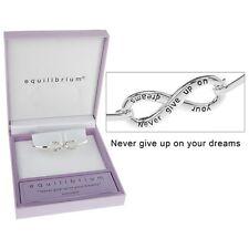 Equilibrio SILVER PLATED infinity braccialetto Dreams Confezione Regalo 54385