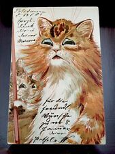 Vintage Louis Wain Postcard Cats Usher Theo Stroefer Scarce Rare Card