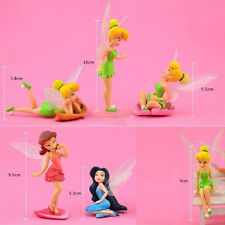 6pcs Set Cute Tinkerbell Fairies Princess Action Figures PVC Doll Toy Gift New
