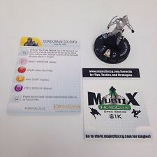 Heroclix LotR: Return of the King set Gondorian Soldier #004 Gravity Feed w/card