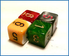 Single 6 Sided D6 Number chessex Opaque Dice x 1  - random colour