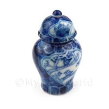 Dolls House Miniature Handmade Dynasty Vase With Removable Lid