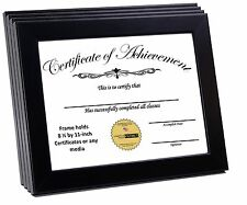 CreativePF [8.5x11bk] Black Document Frame Displays 8.5 by 11-inch Certificate,