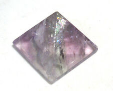 STUNNING HIGH GRADE RAINBOW FLUORITE CRYSTAL PYRAMID 30mm BASE * BAG * ID CARD