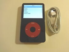 APPLE  IPOD    5.5 GEN.  CUStOM THIN  BLACK/RED    60GB...NEW  HARD DRIVE...