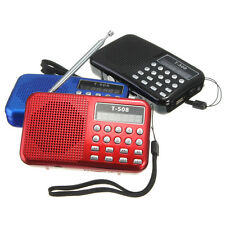 Portable Digital LED Stereo Mini FM Radio USB TF Card MP3 Music Player Speaker