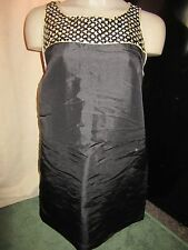 BNWT £50 UK 12 River Island Dress Black Nude Sequin Detail Thin Silky Wedding