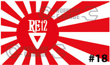 ROTARY JDM STICKERS for RX2 RX3 RX4 RX7 RX8 - RISING SUN RE-12-TRIANGLE #18
