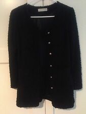 Korean Style Slim Cut Cardigan Outwear In Black