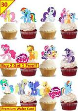30 MY LITTLE PONY Birthday Cup Cake Fairy Edible Wafer Rice Toppers *STAND UP*
