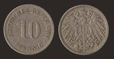 GERMANIA GERMANY 10 PFENNIG 1901 D